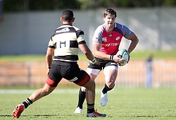 Tyler Fisher of the Pumas attempts to get past Adriaan Carelse of Boland during the Currie Cup premier division match between the Boland Cavaliers and The Pumas held at Boland Stadium, Wellington, South Africa on the 2nd September 2016<br /> <br /> Photo by:   Shaun Roy/ Real Time Images