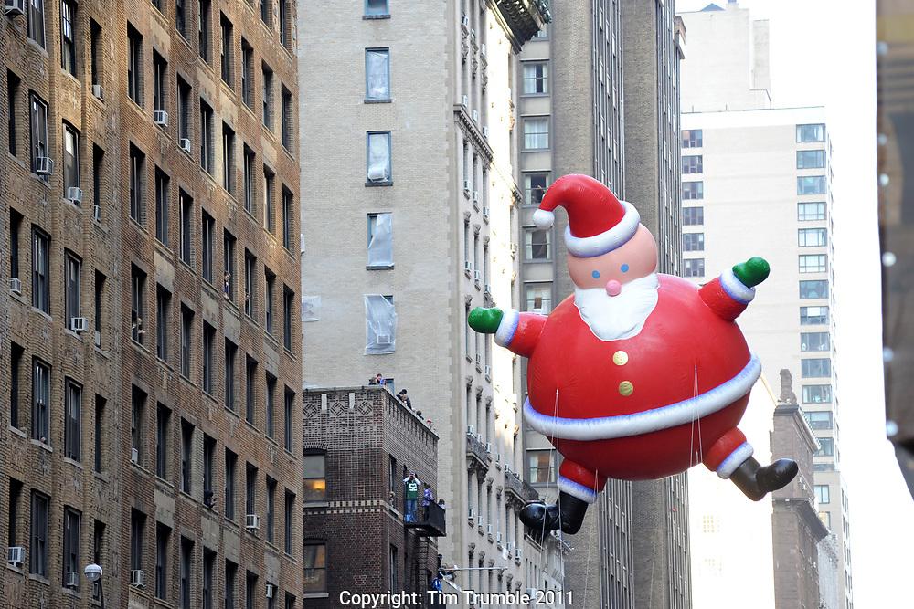 Santa balloon in the New York City Macy's Thanksgiving Parade