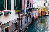 Italy, Venice. Canal.
