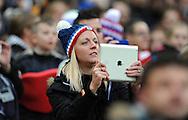 England Women fan<br /> - Womens International Football - England vs Germany - Wembley Stadium - London, England - 23rdNovember 2014  - Picture Robin Parker/Sportimage