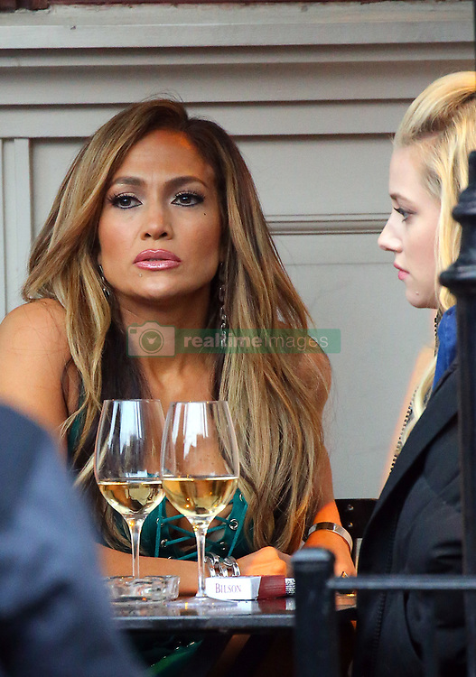 April 26, 2019 - New York, New York, United States - Actors Jennifer Lopez and Lili Reinhart were on the Manhattan set of the new TV show 'Hustlers' on April 25 2019 in New York City  (Credit Image: © Mike Reed/Ace Pictures via ZUMA Press)