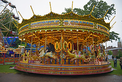Funfair in Chapelfield Gardens, Norwich UK July 2019