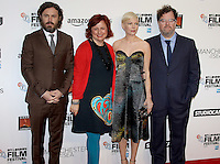 Casey Affleck, Clare Stewart, Michelle Williams & Kenneth Lonergan, Manchester By The Sea - The BFI London Film Festival, Odeon Leicester Square, London UK, 08 October 2016, Photo by Brett D. Cove