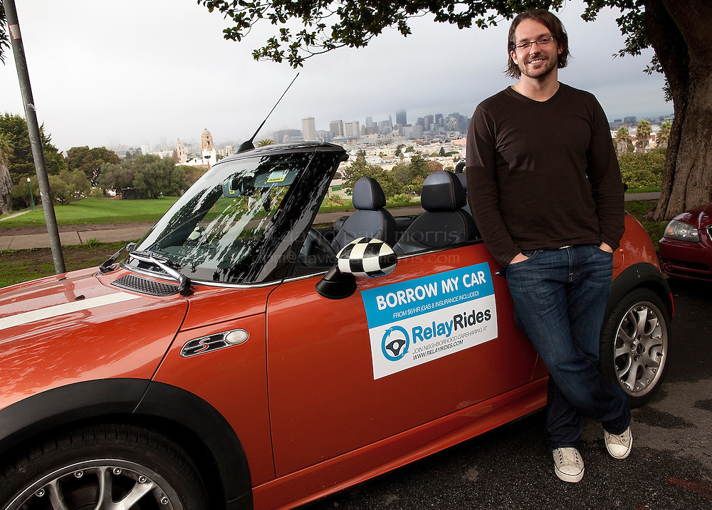 Shelby Clark, chief executive officer of Relay Rides poses for a photo next to Dolores Park on December 10, 2010 in San Francisco, California.  Photography by David Paul Morris