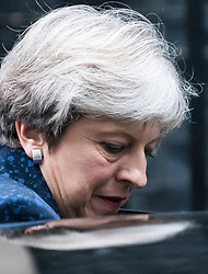 © Licensed to London News Pictures. 07/09/2017. London, UK. British prime minister THERESA MAY leaves 10 downing street in London before parliament debates the EU Withdrawal Bill. A vote will take place in parliament early next week to decide of EU laws will be enshrined in UK law as part of Brexit. Critics of the bill have said it will let government ministers grab powers from parliament. Photo credit: Ben Cawthra/LNP
