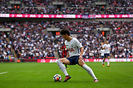 Heung Min - Son of Tottenham Hotspur in action. <br /> Premier league match, Tottenham Hotspur v AFC Bournemouth at Wembley Stadium in London on Saturday 14th October 2017.<br /> pic by Kieran Clarke, Andrew Orchard sports photography.