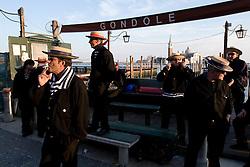 Venice (VE) 18/02/2007 - Venice Carnival 2007. Gondoliers