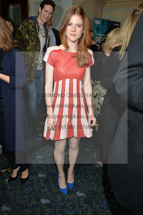 ROSE LESLIE at the opening night of People, Places & Things at The Wyndham's Theatre, Charing Cross Road, London on 23rd March 2016,