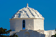 The Byzantine church of Ayios Nikolaos Moulos, Krypseli, Aegina, Greek Saronic Islands.<br /> <br /> If you prefer to buy from our ALAMY PHOTO LIBRARY  Collection visit : https://www.alamy.com/portfolio/paul-williams-funkystock/aegina-greece.html <br /> <br /> Visit our GREECE PHOTO COLLECTIONS for more photos to download or buy as wall art prints https://funkystock.photoshelter.com/gallery-collection/Pictures-Images-of-Greece-Photos-of-Greek-Historic-Landmark-Sites/C0000w6e8OkknEb8
