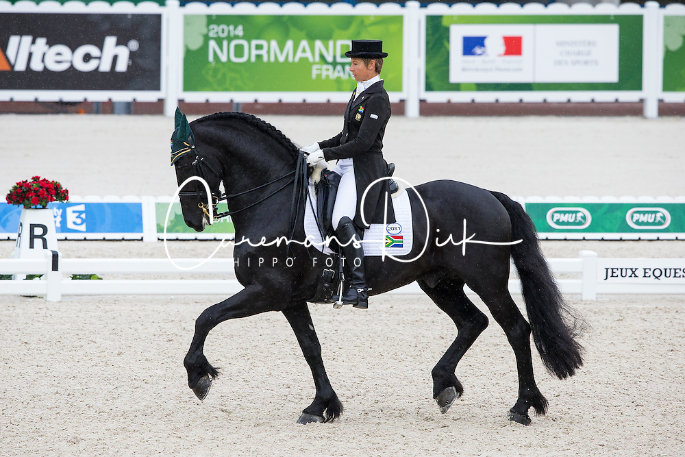 Chere Burger, (RSA), Adelprag Anders 451 - Grand Prix Team Competition Dressage - Alltech FEI World Equestrian Games™ 2014 - Normandy, France.<br /> © Hippo Foto Team - Leanjo de Koster<br /> 25/06/14