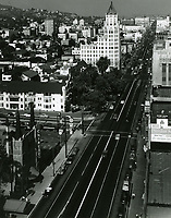 1950 Looking east at Hollywood Blvd. & Orchid Ave.