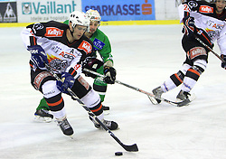 Tomaz Razingar at 39th Round of EBEL League ice hockey match between HDD Tilia Olimpija and HK Acroni Jesenice, on December 30, 2008, in Arena Tivoli, Ljubljana, Slovenia. Tilia Olimpija won 4:3. (Photo by Vid Ponikvar / SportIda).