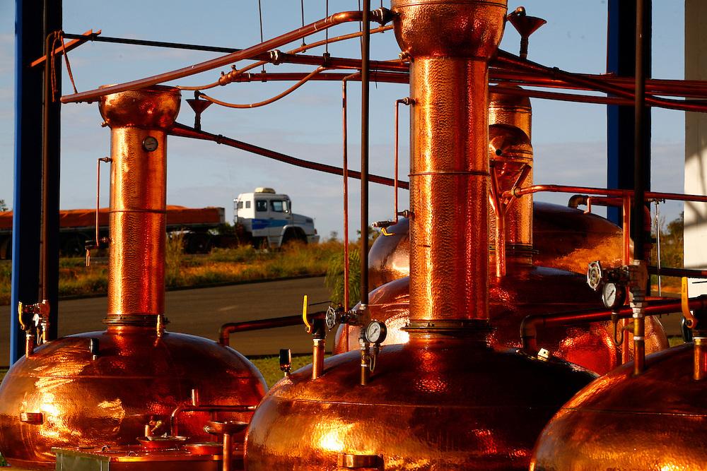 Patos de Minas _ MG, Brasil.<br /> <br /> Cachacaria em Patos de Minas que fabrica aguardente para exportacao. Na foto compartimentos de cobre usados na preparacao da cachaca.<br /> <br /> Cachaca factory in Patos de Minas, which manufactures cachaca for export. In the photo copper compartments used in cachaca preparation..<br /> <br /> FOTO: LEO DRUMOND / AGENCIA NITRO