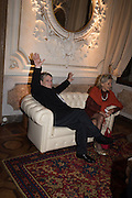 SIR NORMAN ROSENTHAL, Sarah Lucas- Scream Daddio party hosted by Sadie Coles HQ and Gladstone Gallery at Palazzo Zeno. Venice. 6 May 2015.