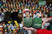 Sadam Hussein nesting dolls.