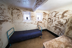 View of prisoner cell after dirty protest at Peterhead Prison Museum in Peterhead, Aberdeenshire, Scotland, UK