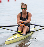 Poznan, POLAND, 21st June 2019, Friday, Morning Heats, NZL W1X, Emma TWIGG, FISA World Rowing Cup II, Malta Lake Course, © Peter SPURRIER/Intersport Images,<br /> <br /> 11:56:58