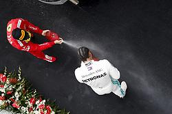 April 14, 2019 - Shanghai, China - Motorsports: FIA Formula One World Championship 2019, Grand Prix of China, ..#44 Lewis Hamilton (GBR, Mercedes AMG Petronas Motorsport), #5 Sebastian Vettel (GER, Scuderia Ferrari Mission Winnow) (Credit Image: © Hoch Zwei via ZUMA Wire)