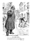 """P.C. John Bull. """"When conciliation duty's to be done - to be done, the policeman's lot is not a happy one - happy one."""""""