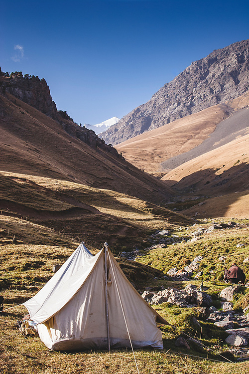 Walking in the Tajik-Kyrgyz border region of the High Pamirs and Tian Shan mountains is a magical experience. Fascinating to visit some of the old trading posts along the original Silk Road from Osh to Kashgar. The tents might have been a bit antique but the views are timeless