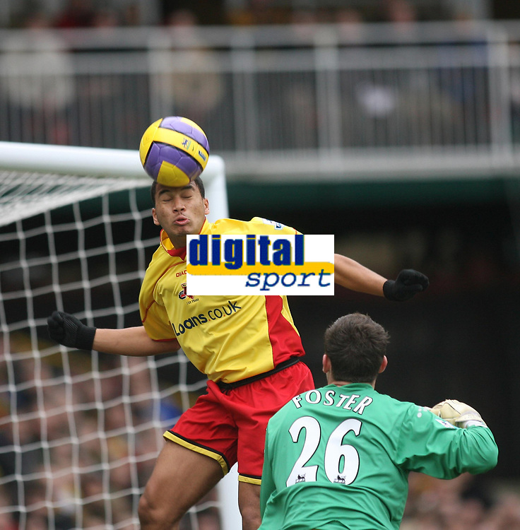 Photo: Marc Atkins.<br /> Watford v Liverpool. The Barclays Premiership. 13/01/2007.