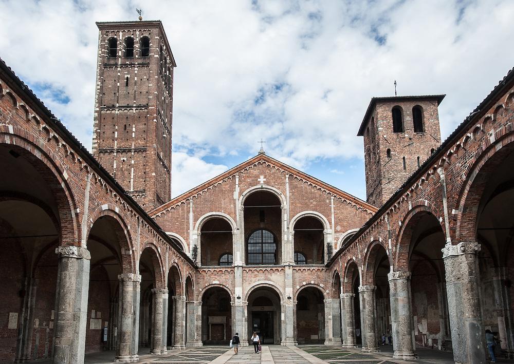 Basilica di Sant'Ambrogio in Milan, Italy