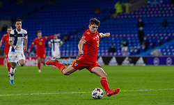 CARDIFF, WALES - Wednesday, November 18, 2020: Wales' Daniel James during the UEFA Nations League Group Stage League B Group 4 match between Wales and Finland at the Cardiff City Stadium. Wales won 3-1 and finished top of Group 4, winning promotion to League A. (Pic by David Rawcliffe/Propaganda)