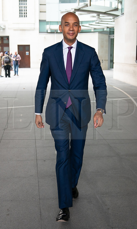 © Licensed to London News Pictures. 19/05/2019. London, UK. Change UK politician Chuka Umunna leaves BBC Broadcasting House after appear on The Andrew Marr Show this morning. Photo credit : Tom Nicholson/LNP
