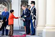 President Park Guen-Hye of South-Korea visits King Willem-Alexander, Queen Maxima and Princess Beatrix at Palace Noordeinde in The Hague, The Netherlands, 24 March 2014. The president of South Korea visits the king during the Nuclear Security Summit in The Hague.