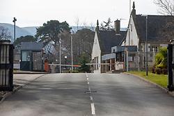 Dreghorn Barracks. Edinburgh on the day after the Lockdown.