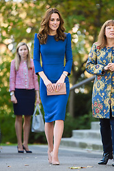 The Duchess of Cambridge arrives at the IWM London to view letters relating to the three brothers of her great-grandmother, all of whom fought and died in the First World War. Picture date: Wednesday October 31st, 2018. Photo credit should read: Matt Crossick/ EMPICS Entertainment.