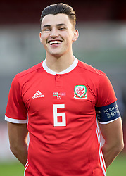 NEWPORT, WALES - Tuesday, October 16, 2018: Wales' captain Regan Poole ahead of the UEFA Under-21 Championship Italy 2019 Qualifying Group B match between Wales and Switzerland at Rodney Parade. (Pic by Laura Malkin/Propaganda)