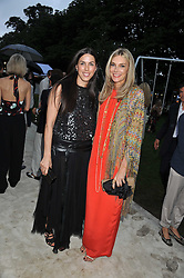 Left to right, JESSICA DE ROTHSCHILD and KIM HERSOV at the annual Serpentine Gallery Summer Party sponsored by Burberry held at the Serpentine Gallery, Kensington Gardens, London on 28th June 2011.