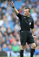 Keith Stroud referee during the Sky Bet Championship match between Brighton and Hove Albion and Watford at the American Express Community Stadium, Brighton and Hove, England on 25 April 2015.