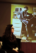 Brooklyn, New York, NY-February 8: (L-R) Photographer/Arts Educator/Photographer Noelle Flores Theard speaks at Visually Speaking! The People's Photographer curated by Terrence Jennings for the Brooklyn Public Library on February 8, 2018 in the Brooklyn section of New York City.  The Visually Speaking! series is a platform for Photographers highlighting visually important photographic works. (Photo by Terrence Jennings/terrencejennings.com)
