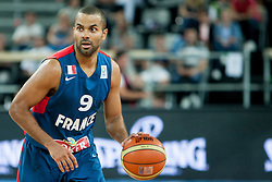 Tony Parker of France during last friendly match before Eurobasket 2013 between National teams of Slovenia and France on August 31, 2013 in SRC Stozice, Ljubljana, Slovenia. (Photo by Urban Urbanc / Sportida.com)