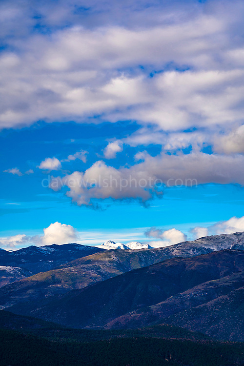 View of the Carlit and Conflet, from the Canigou, Pyrenees Orientales, France