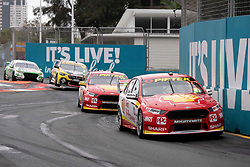 October 21, 2018 - Gold Coast, QLD, U.S. - GOLD COAST, QLD - OCTOBER 21: Scott McLaughlin / Alexandre Premat in the Shell V-Power Racing Team Ford Falcon (17) ahead of his teammate Fabian Coulthard / Tony D'Alberto in the Shell V-Power Racing Team Ford Falcon (12) during the race at The 2018 Vodafone Supercar Gold Coast 600 in Queensland, Australia. (Photo by Speed Media/Icon Sportswire) (Credit Image: © Speed Media/Icon SMI via ZUMA Press)
