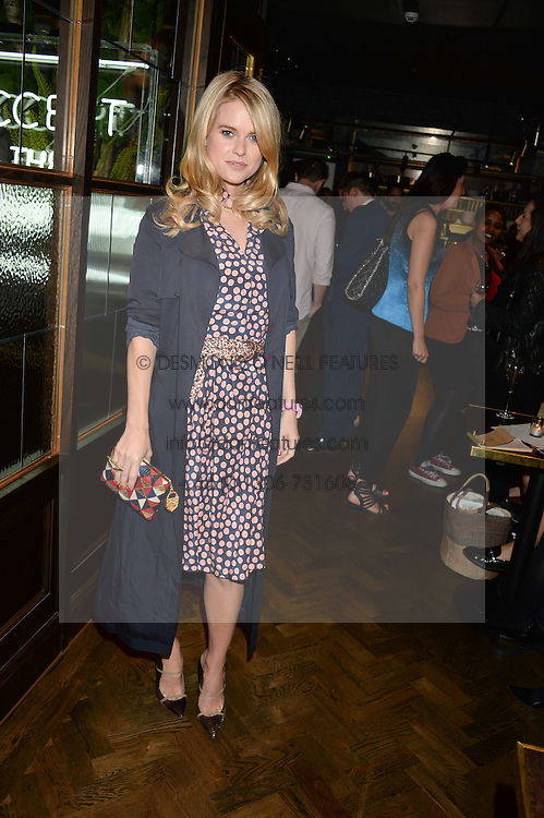 ALICE EVE at a party to celebrate the launch of Sackville's Bar & Grill, 8a Sackville Street, London on 15th July 2015.
