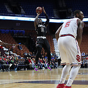 Duane Notice, South Carolina, shoots during the St. John's vs South Carolina Men's College Basketball game in the Hall of Fame Shootout Tournament at Mohegan Sun Arena, Uncasville, Connecticut, USA. 22nd December 2015. Photo Tim Clayton