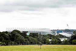 A General View of St James' Park from a local park before the match - Photo mandatory by-line: Rogan Thomson/JMP - 07966 386802 17/08/2014 - SPORT - FOOTBALL - Newcastle, England - St James' Park - Newcastle United v Manchester City - Barclays Premier League.