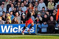 Photo: Leigh Quinnell.<br /> Luton Town v Southampton. Coca Cola Championship. 07/04/2007. Marek Saganowski celebrates his goal for Southampton.