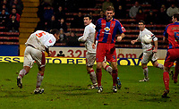 Photo: Alan Crowhurst.<br />Crystal Palace v Swindon Town. The FA Cup. 06/01/2007. Swindon's Jerel Ifil (L) heads home a goal 2-1.