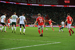 9 October 2017 -  2018 FIFA World Cup Qualifying (Group D) - Wales v Republic of Ireland - Ben Davies of Wales with a desperate shot in injury time - Photo: Marc Atkins/Offside