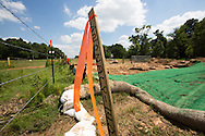 Jun 8, 2013 Smith County, Texas,  A marker at the site of an anomaly in the Kesytone XL southern route that Michels, the subcontractor for TransCanada,  is back on field repairing. President Obama will decide if the Northern route of the Keystone XL will be permitted in a couple.