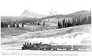 """RGS #455 southbound over Lizard Head Pass.  The current tender is from D&RGW #452.<br /> RGS  Snow, CO  Taken by Richardson, Robert W. - ca. ? 1949<br /> In book """"Southern, The: A Narrow Gauge Odyssey"""" page 64<br /> Also at RD137-128."""