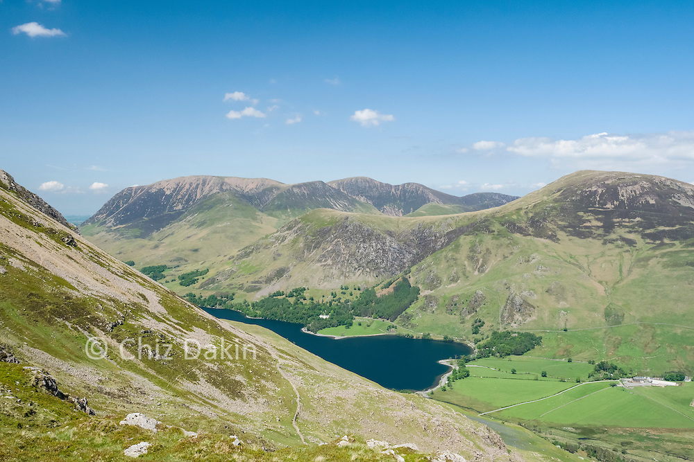 View over Crummock Water to Grasmoor and Whinlatter from Seat