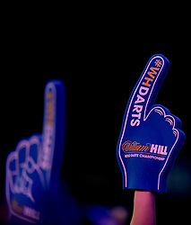 General view of foam fingers during day three of the William Hill World Darts Championship at Alexandra Palace, London. PRESS ASSOCIATION Photo. Picture date: Saturday December 16, 2017. See PA story DARTS World. Photo credit should read: Steven Paston/PA Wire. RESTRICTIONS: Use subject to restrictions. Editorial use only. No commercial use.