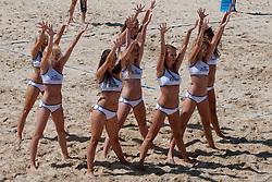 05-08-2011 VOLLEYBAL: FIVB WORLD TOUR GRANDSLAM: KLAGENFURT<br /> Cheerleaders Zipfer girls<br /> ©2011-FotoHoogendoorn.nl / Matic Klansek Velej