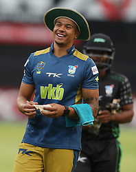 Diego Rosier of the VKB Knights during the T20 Challenge cricket match between the Hollywoodbets Dolphins and VKB Knights  at the Kingsmead stadium in Durban, KwaZulu Natal, South Africa on the 11 Dec 2016<br /> <br /> Photo by:   Steve Haag / Real Time Images